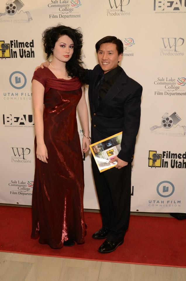 Day Zero Cal Nguyen and Deven Skye Baldwin at 2013 Filmed in Utah Awards