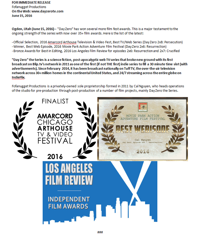 Day Zero official selection winner best award film festival amarcord la film review los angeles movie park webisode tv television series show