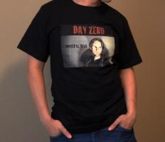 Day Zero Poster T-Shirt Men's Black Male Model Cal Nguyen pose posing