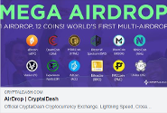 CryptalDash Mega Air Drop cryptocurrency CRD token coin